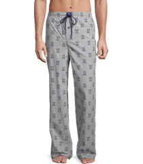 psycho bunny men's printed cotton pajama pants - plaid multi - size m