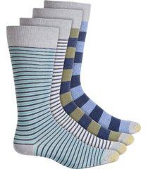 gold toe men's 4-pk. striped crew socks