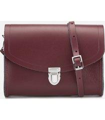 the cambridge satchel company women's push lock bag - oxblood