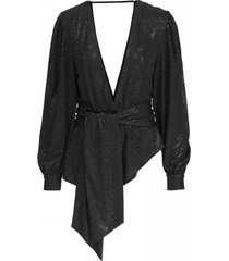 nona top - black sequin
