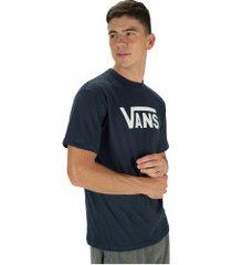 camiseta vans classic fit - masculina - azul escuro