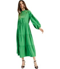 alfani petite tiered midi dress, created for macy's