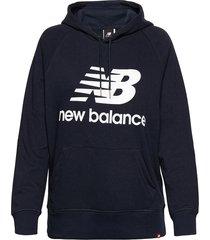 essentials pullover hoodie hoodie trui blauw new balance