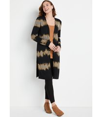 maurices womens black acid wash duster cardigan