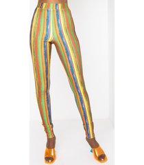 akira rise and shine multi color mesh leggings