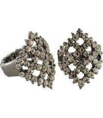 anel armazem rr bijoux triangulo cristais feminino