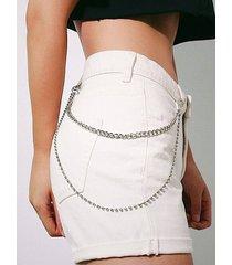 rhinestones inlaid layered trousers chain