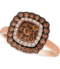 le vian chocolatier diamond framed ring (7/8 ct. t.w.) in 14k rose gold