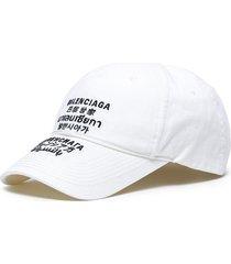 multi language logo embroidered cotton cap