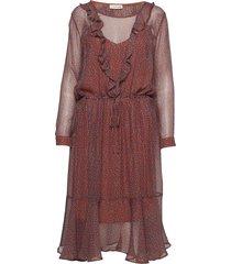 malin jurk knielengte roze custommade