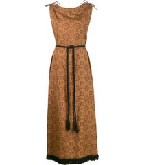 a.n.g.e.l.o. vintage cult 1960s printed maxi dress - brown