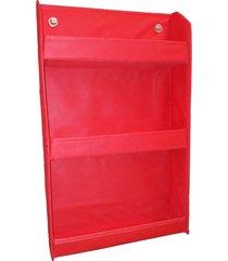 revisteiro prateleira montessoriano organibox vermelho