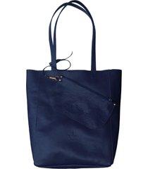 bolsa line store leather sacola shopper n1 couro azul marinho.