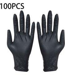100pcs desechables guantes negros lavado limpieza guantes de nitrilo