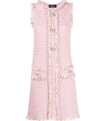 blumarine tweed fitted dress - pink