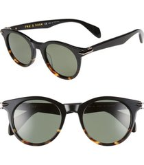 men's rag & bone 49mm polarized round sunglasses -