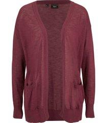 cardigan con tasche (rosso) - bpc bonprix collection