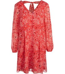 inc graphic-dot printed shift dress, created for macy's