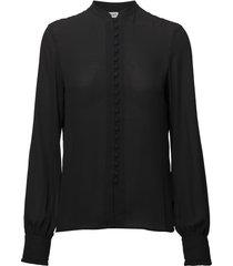 sheer button blouse blouse lange mouwen zwart filippa k