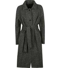 alberta ferretti tie-waist patterned coat