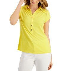 charter club knit crepe polo shirt, created for macy's