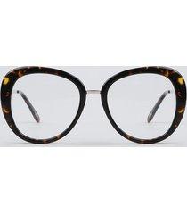 armação para óculos de grau feminina oval tartaruga