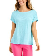 charter club linen boat-neck top, created for macy's