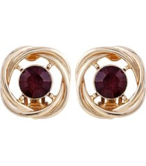 t tahari color me button clip earring