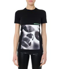 dsquared2 black cotton printed t shirt
