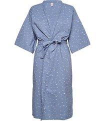 tiny flower liberte kimono morgonrock blå becksöndergaard