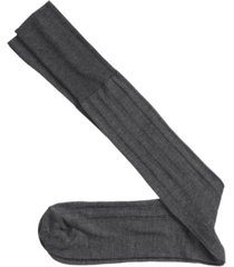 johnston & murphy cotton ribbed over-the-calf socks