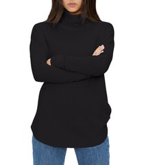 women's michael stars marcy turtleneck shirttail top
