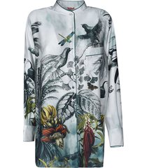for restless sleepers round collar printed shirt