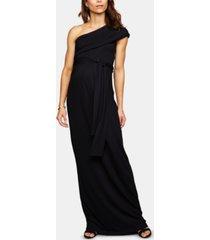 isabella oliver maternity one-shoulder maxi dress