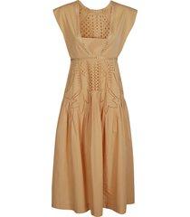 perforated sleeveless dress
