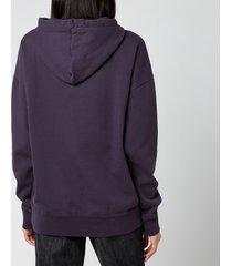 isabel marant étoile women's mansel hooded sweatshirt - faded night - fr 40/uk 12