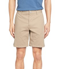 bonobos stretch washed chino 7-inch shorts, size 35 in true khaki at nordstrom
