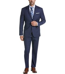awearness kenneth cole awear-tech blue plaid extreme slim fit suit