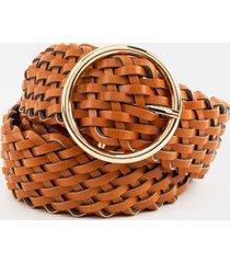 lilly braided belt - cognac