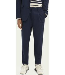 scotch & soda geplooide loose tapered fit chino