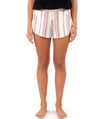 women's rip curl seaport stripe shorts, size large - white
