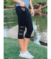 legging de cintura alta de malla con bolsillos laterales yoins basics