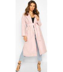 oversized robe belted coat, blush