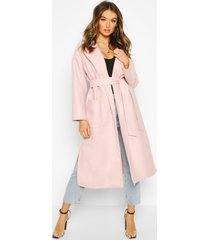 oversized robe belted coat, blush
