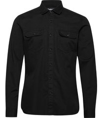 b.int worker shirt skjorta casual svart barbour