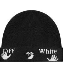 off-white logo wool beanie