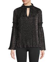 justina lurex keyhole blouse