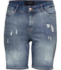 jrfive sl adia shorts - k shorts denim shorts blå junarose