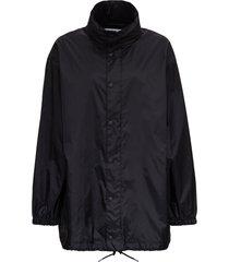 balenciaga nylon black jacket with back languages print