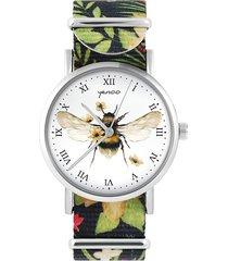 zegarek - bee natural - kwiaty, nylonowy